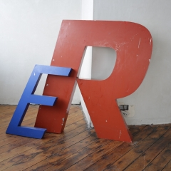 Fabricated Letters - E £20 - R £60 + VAT