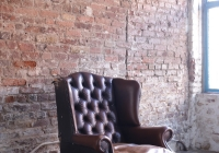 Brown Chesterfield armchair - £60 + vat