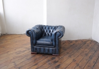 Blue Chesterfield Armchair - £60 + VAT