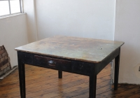 Paint covered artist table £60