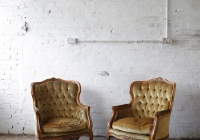Victorian velvet armchairs - £60 + vat each
