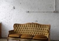 Victorian velvet sofa - £100 + vat