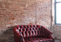 Vintage Red Chesterfield £80 + vat